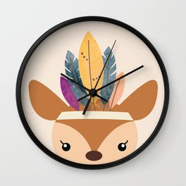 little boho deer Wall Clock