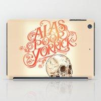 hamlet iPad Cases featuring Hamlet Skull by Rachel Caldwell