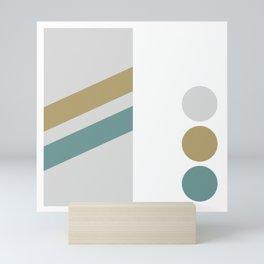 Gold/Teal Swatch Mini Art Print