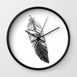 Sea Eagle Feather Tattoo Wall Clock
