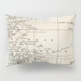 Vintage Map of the West Of Australia Pillow Sham