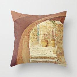 Jerusalem Courtyard Throw Pillow