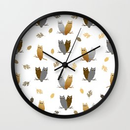 Owl Pattern Wall Clock