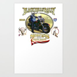 Black Hills Rally Art Print