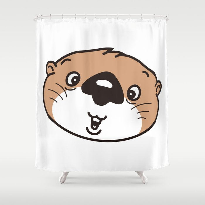 The Face Of Baby Sea Otter Shower Curtain