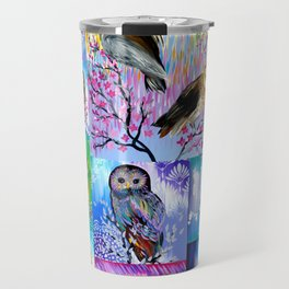 abstract owls Travel Mug