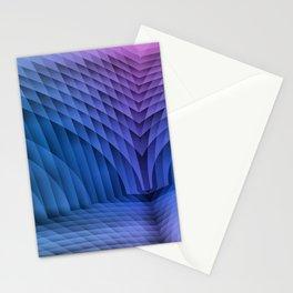 Geometric Path Blue-Pink Stationery Cards