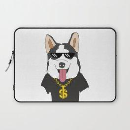 Siberian Husky Thug Life Mode Laptop Sleeve