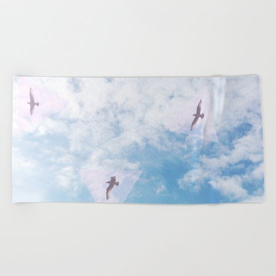Flight Path Beach Towel