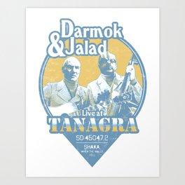Darmok and Jalad at Tanagra - Blue Art Print