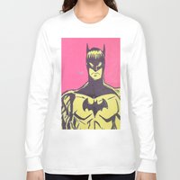 bats Long Sleeve T-shirts featuring Bats by Michael Fitzgerald Troy
