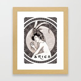 Aries · Zodiac Framed Art Print