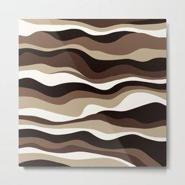 Cordillera Stripe: Brown  Cookies and Cream Combo Metal Print