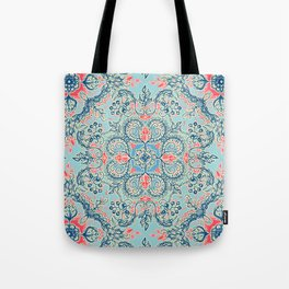 Gypsy Floral in Red & Blue Tote Bag