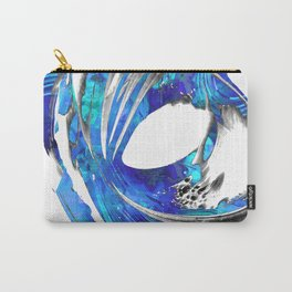 Blue And White Abstract Art - Swirling 3 - Sharon Cummings Carry-All Pouch