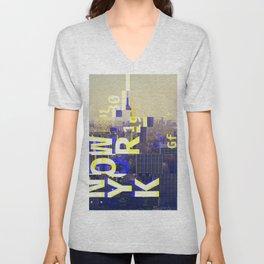 GLITCH CITY #00 NEW YORK Unisex V-Neck