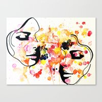 her art Canvas Prints featuring #her by Yazmeen Collazo