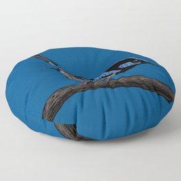 Fairy wren drawing  Floor Pillow