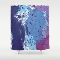 splatter Shower Curtains featuring Splatter by initiale