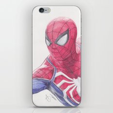 Spidey ps4 Ballpoint Pen Drawing iPhone & iPod Skin