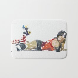 Roller Derby Girl Bath Mat