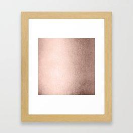 Moon Dust Rose Gold Framed Art Print