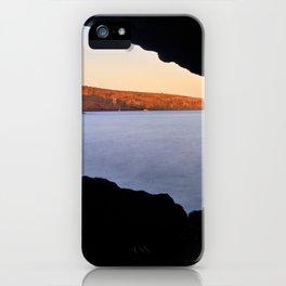 Del Medio Cave. Sunset at the beach. La Gomera iPhone Case