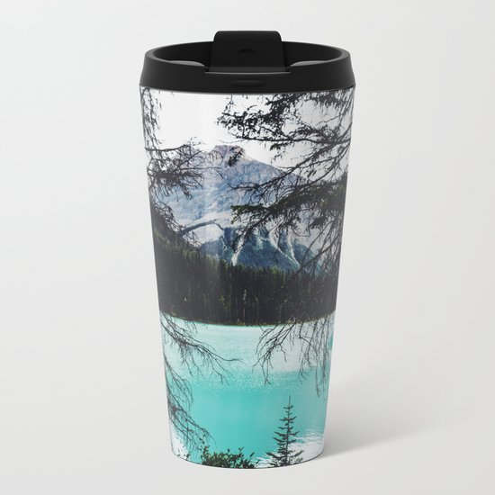 The mountains are calling and I must go Metal Travel Mug