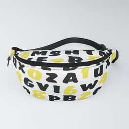 Numbers and letters Fanny Pack