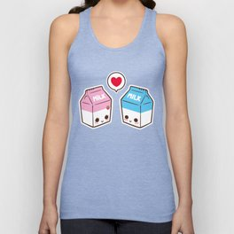 Milks in love Unisex Tank Top