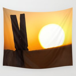 Clothes peg at sunrise Wall Tapestry