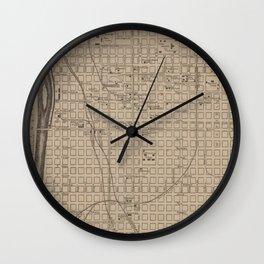 Vintage Columbia SC Map (1901) Wall Clock