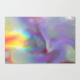 An abstract colorful holographic futuristic texture. Canvas Print