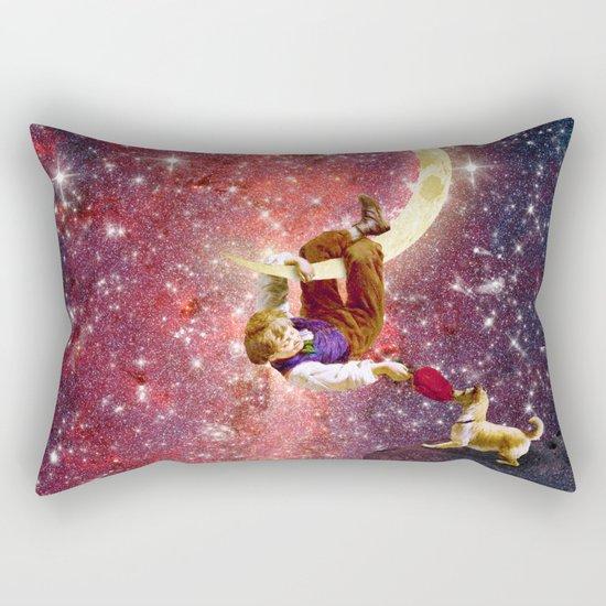 Playing on the Moon 2 Rectangular Pillow