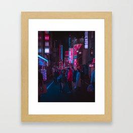 Cyber Tokyo Framed Art Print