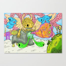 What Happened on Marshmallow Mountain Canvas Print
