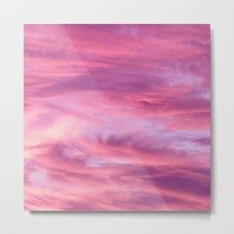 Pink Lavender Clouds Metal Print