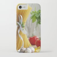 pasta iPhone & iPod Cases featuring delicious pasta by Tanja Riedel