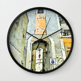 Tortora glimpse with door of the historic center Wall Clock