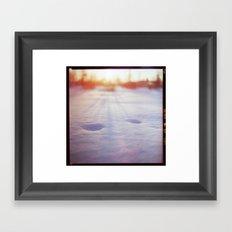Winter trace Framed Art Print