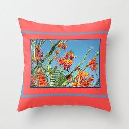 Ocotillo Blooms Throw Pillow