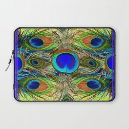 BLUE PEACOCK FEATHER ART NOVEAU DESIGN Laptop Sleeve