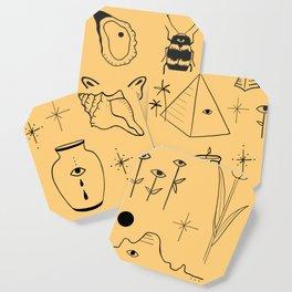 Yellow Flash Sheet Coaster