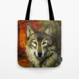 October Wolf Tote Bag
