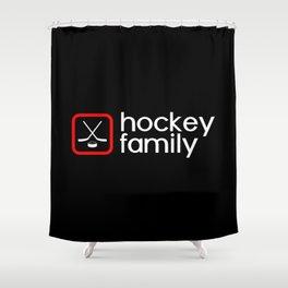 Hockey Family (Red) Shower Curtain