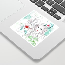 Christmas in the forest Sticker