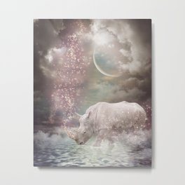 The Most Beautiful Have Known Defeat, Suffering, Struggle... (Rhino Dreams)  Metal Print