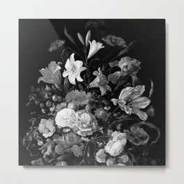 Still Life #2 Black & White Metal Print