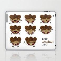 Chestnut Girl Mood Laptop & iPad Skin