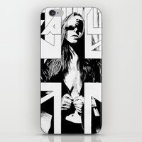 the fault iPhone & iPod Skins featuring FAULT by Kelsey Crenshaw